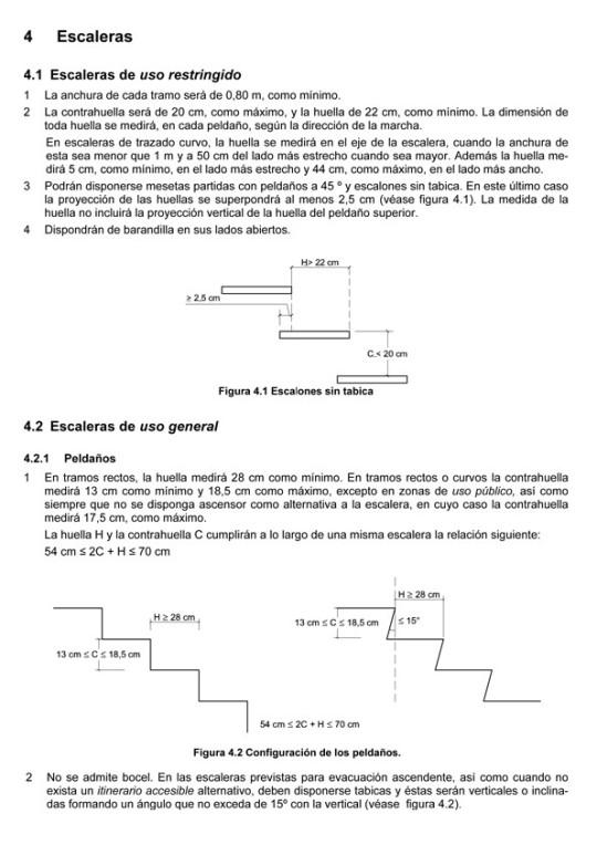 Normativa en escaleras de madera