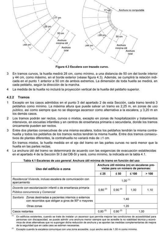 normativa para escaleras de acuerdo al c digo t cnico de