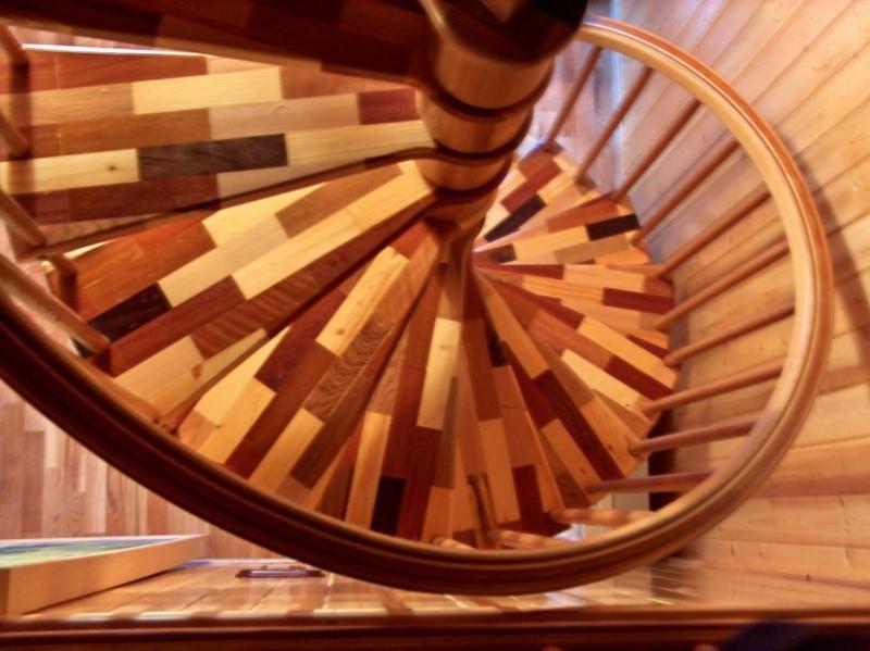 Escaleras de caracol empleando distintas maderas nobles - Escaleras de caracol de madera ...