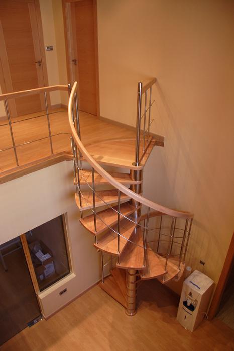 Escaleras de caracol en acero y acero inoxidable - Escalera de caracol prefabricada ...