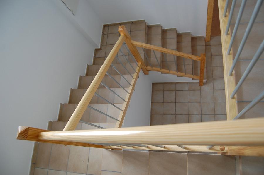 Scala bianca barandas de aluminio - Baranda de madera ...