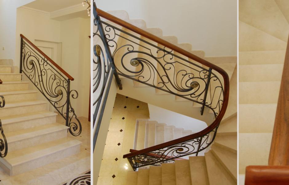 Barandillas de escaleras de interior en madrid murcia for Barandas de madera para escaleras interiores