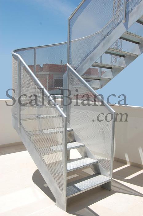 Escaleras de caracol en hierro acero escaleras a medida - Escalera de caracol exterior ...